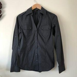Express Gray Button Down Dress Shirt